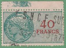 France Douanes Customs Revenue Yvert #DO-22 used 40Fr 1952 cv $19