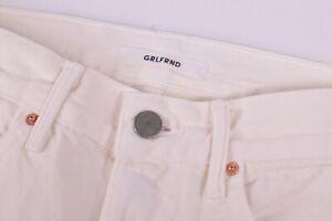 GRLFRND NWT 100% Cotton Ivory Jeans Size 25W The Karolina Skinny $228