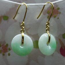 G18K CERTIFIED Natural (Grade A) Gorgeous Untreated Green Jadeite JADE Earrings