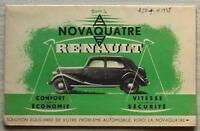 RENAULT NOVAQUATRE Car Sales Brochure 1938 FRENCH TEXT