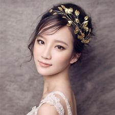 Beautiful Dainty Bridal Jewelry Headband Fashion Gold Leaf Branch Hair Crown