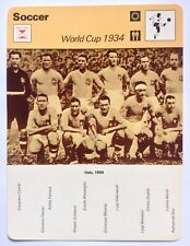Sportscaster Football Card Editions Rencontre Italy 1934 World Cup