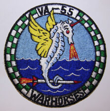 "60s US Navy Attack Squadron VA-55 ""WARHORSES"" Japanese Made Patch - Ace Novelty"