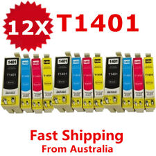 12X Generic Ink Cartridges T140 T1401 For Epson WF 3520 3530 3540 7010 7510 7520