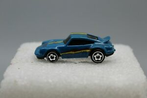 HOT WHEELS MICRO PORSCHE 911 TURBO BLUE 1:87 SCALE RARE 1970'S VINTAGE