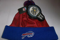 Buffalo Bills LOGO NFL LED Light Up Hat Winter Pom Beanie Stocking Knit Cap
