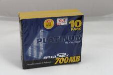 Platinum Cd-r 10er Pack Slim Case