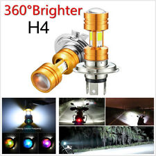 3500LM 30W 360° H4 COB LED White Motorcycles Headlight Hi/Lo Beam Bulb With Lens