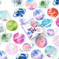 45Pcs/Lot Cute Mini Planet Decor DIY Album Diary Scrapbooking Label Sticker