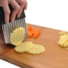 French Fries Cutter Stainless Steel Potato Chips Slicer Kitchen Wavy Cutter