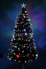 PREMIUM 2.1m 7ft 210cm BLACK DENSITY FIBRE OPTIC CHRISTMAS TREE Multi Colour LED
