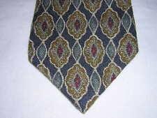 BURBERRYS of London *  Blue Red Gold * print 100% Silk Neck Tie