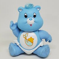 Vintage Care Bears Poseable Figure Baby Tugs 1984 Kenner Heart Star Blue Twin