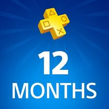 Play Station Plus 1 Year 12 month Subscription (not code) READ DESCRIPTION!