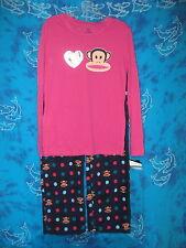 Paul Frank Julius Monkey Navy Blue Pink Polka Dot Fleece Lounge Pants Pajamas XL