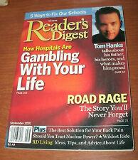 READER'S DIGEST 2001 SEPT TOM HANKS;ROAD RAGE;GAMBLING;BACK PAIN;FIX OUR SCHOOL