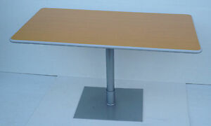 bistro table Restaurant Bar Cafe canteen dinning pedestal laminated top table BE