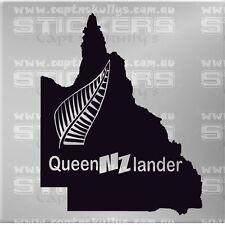 KIWI QUEENZLANDER MAP 200mm x 160mm 15 colours to choose from
