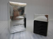 ATTITUDE POUR HOMME GIORGIO ARMANI 0.17 oz / 5 ML EDT Miniature New In Box
