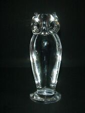 SEVRES FRANCE CRYSTAL OWL STATUE LARGE 8""