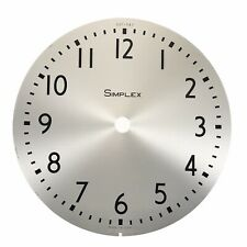 "Vintage 10"" Simplex Wall Clock Metal Face Dial Brushed Stainless Steel"