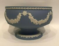 Wedgwood  Blue jasperware Small Pedestal Bowl in excellent condition .