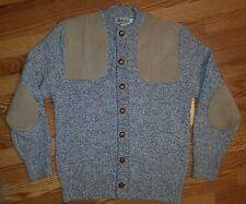 CABELA'S Button Down Sweater Pullover Men's Large EUC WOOL Rare Vintage Warm