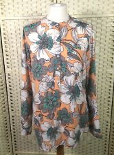 Next Peach Green Pastel Crew Neck Spring Summer Shirt Blouse Top 10 Fits 12 Too