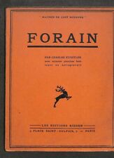 """CHARLES KUNSTLER """" FORAIN """" MAITRES DE L' ART MODERNE 1931"""