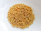 MBX0057 Beads 500 x Brass Crimp Beads 2mm x 1.2mm Gold Plated NF Findings