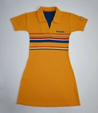 Reebok Freestyle Dress Vintage Yellow Polo Cotton Tennis Rare Girls Women XS