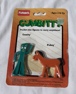 1988 Vintage Gumbitty Pocket Size Figures Gumby and Pokey NOS