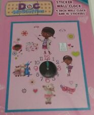 DOC McStuffins 4''  WALL CLOCK AND 16 STICKERS.