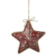 Western Bandana Print Star Christmas Ornament