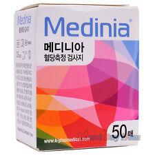 Medinia Blood Glucose Diabetic-Aid Diabetes Glucometer 50 Test Strip Exp 10/2018