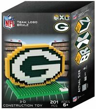 Green Bay Packers BRXLZ Team Logo 3-D Puzzle Construction Toy New - 201 Pieces