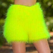 SUPERTANYA YELLOW Hand Knitted Mohair Pants Fuzzy Handmade Underwear Soft Shorts