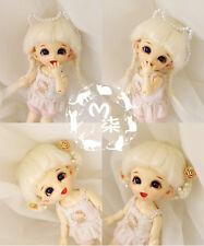 """5-6"""" 14cm BJD fabric fur wig Beige for AE PukiFee lati 1/8 Doll"""