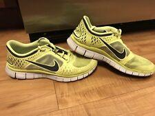 Nike Free Run 3 Mens 11 Neon Yellow