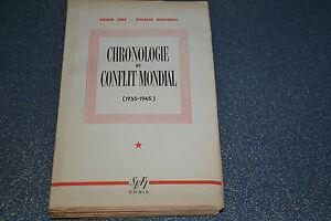 Chronologie du conflit mondial (1935-1945) / Céré Roger, Rousseau (C1)