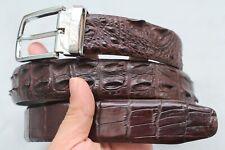 Unjointed - Dark Brown Genuine Alligator CROCODILE Belt Skin Leather Men's
