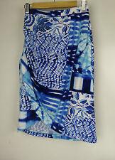 CHARLIE BROWN Pencil stretch skirt Sz 8 Blue, white print
