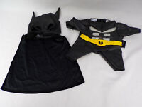 "Vintage Build A Bear ""The Dark Knight"" Clothing Outfit Suit & Masked Cape EUC"