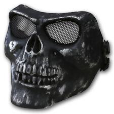 Kombat UK Hard Media Máscara Negro Diseño de Calaveras Airsoft Escaramuza
