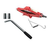 Wheel Change Kit 1.5T Scissor Jack + Extendable Wheel Brace 17mm 19mm 21mm 22mm