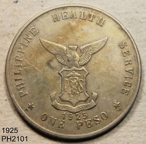 PHILIPPINES Culion Leper Colony Peso 1925 Free Shipping in UNITED STATES