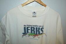 VTG Columbia Fishing Buddies All JERKS! Graphic T Shirt Mens XL