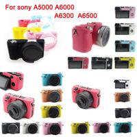 Soft Silicone Camera Case Bag Skin Cover For Sony Alpha A5000 A6000 A6300 A6500