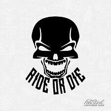 Ride or die Totenkopf Aufkleber Motorrad Aufkleber skull sticker Autoaufkleber