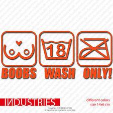 Boobs Wash Only Sticker Aufkleber Auto Car 14x6 Fun Hand Rain Low Life